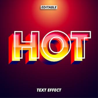 Effet de texte rouge moderne et futuriste avec le style de couleur flamme chaude