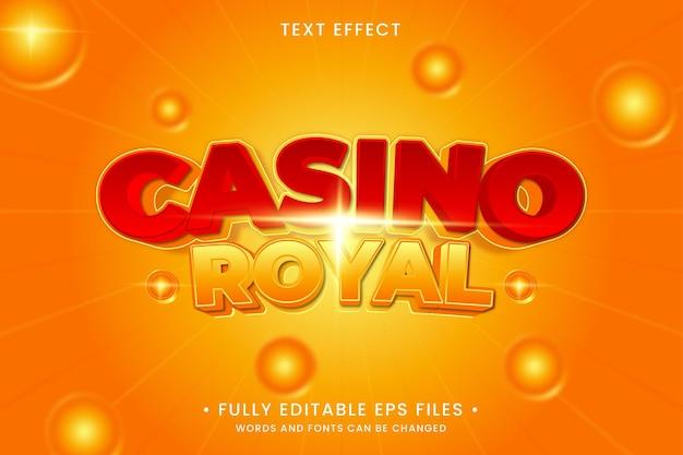 Effet de texte royal de casino