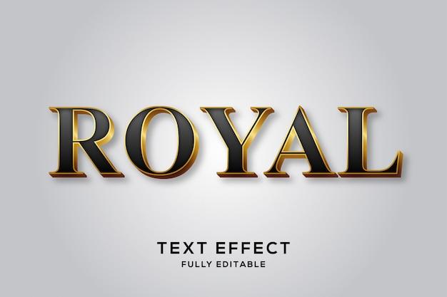 Effet de texte royal premium noir et or