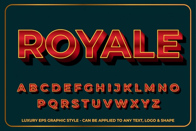 Effet de texte royale premium