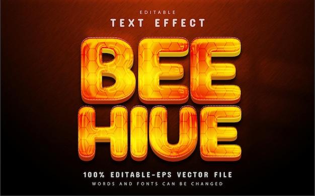 Effet de texte de ruche d'abeille