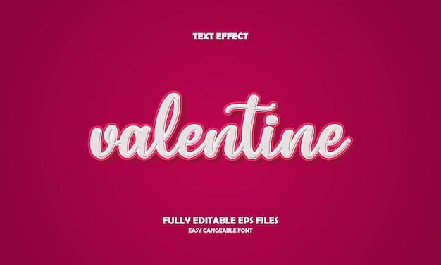 Effet de texte saint valentin