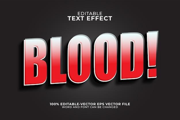 Effet de texte de sang