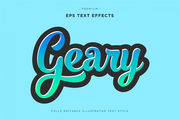 Effet de texte script cool illustrator