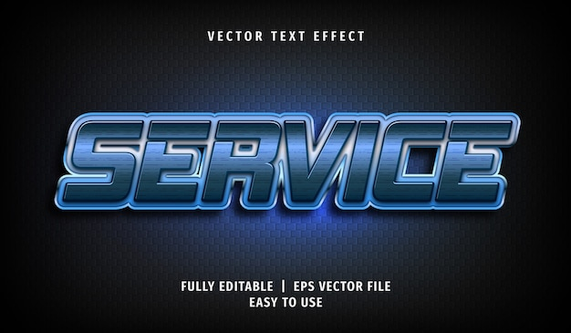 Effet de texte de service 3d, style de texte modifiable