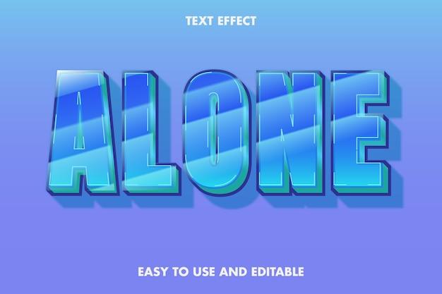 Effet de texte seul, texte modifiable.