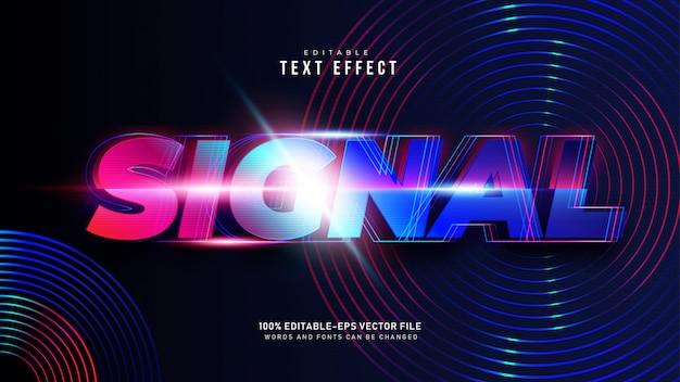 Effet de texte de signal moderne