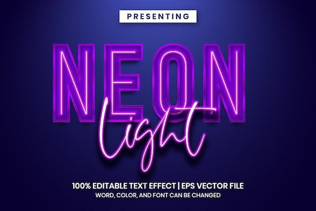 Effet de texte de signe de lumière au néon