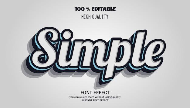 Effet de texte simple et tendance