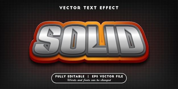 Effet de texte solide, style de texte modifiable