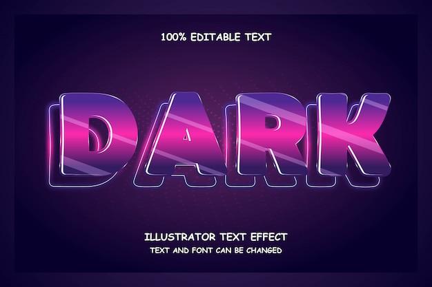 Effet de texte sombre et modifiable style néon moderne