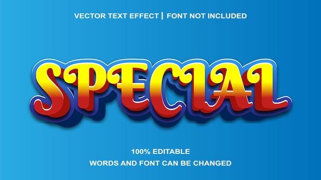 Effet de texte spécial créatif