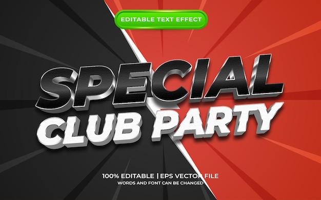 Effet de texte spécial fête du club