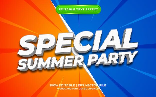 Effet de texte spécial fête d'été