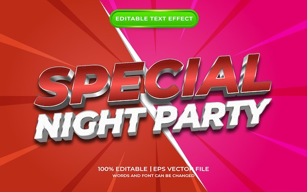 Effet de texte spécial fête de nuit
