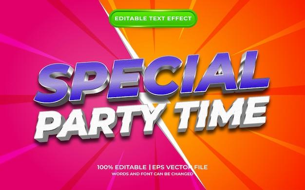 Effet de texte spécial pour l'heure de la fête
