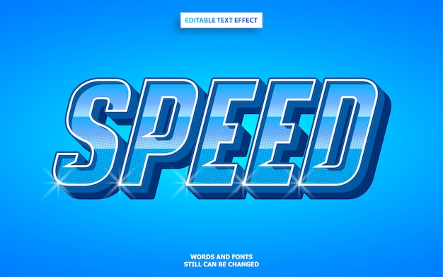 Effet de texte de sport automobile de vitesse