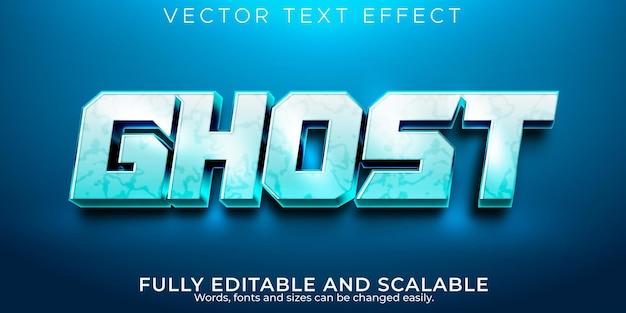 Effet de texte de sport fantôme jeu modifiable et style de texte du joueur
