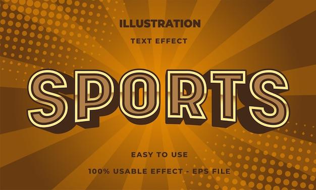 Effet de texte sportif