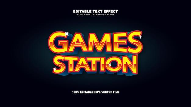 Effet de texte de station de jeux