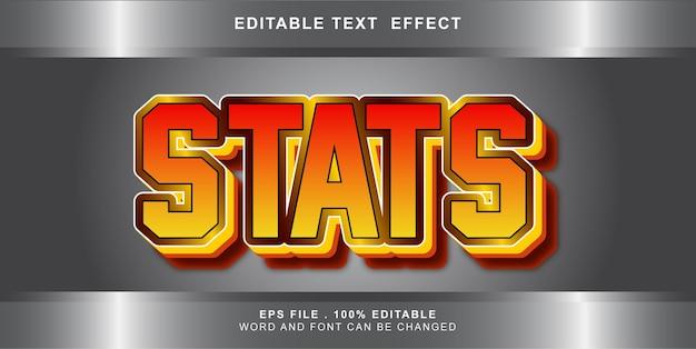 Effet de texte de statistiques modifiable