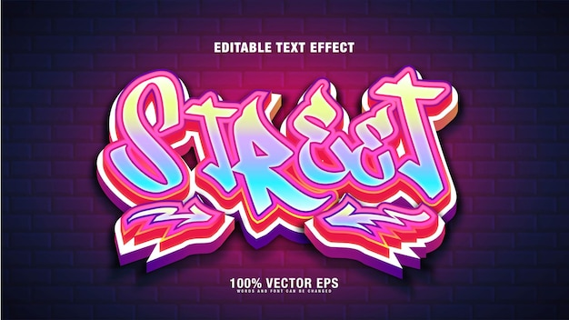 Effet de texte street graffiti