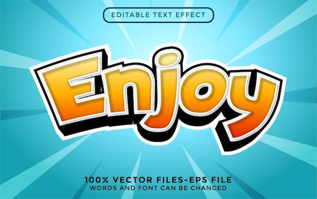 Effet de texte de style 3d moderne premium vecto