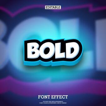 Effet de texte de style de bande dessinée 3d pour l'animation et le logo du jeu
