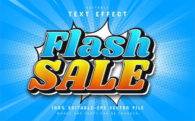 Effet de texte de style bande dessinée de vente flash modifiable