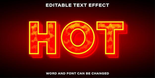 Effet de texte de style chaud