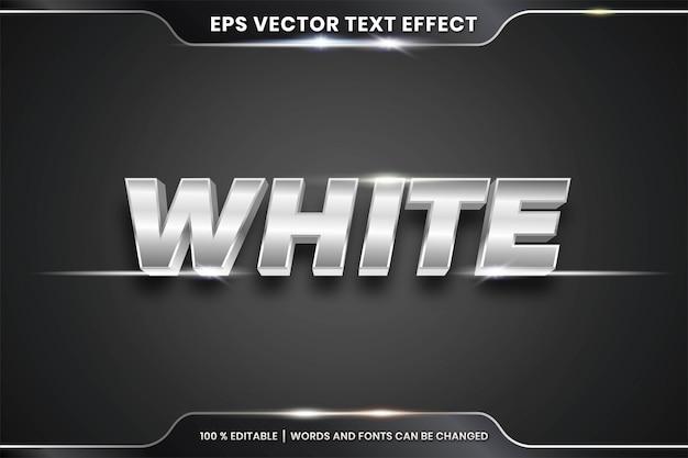Effet de texte de style chrome modifiable