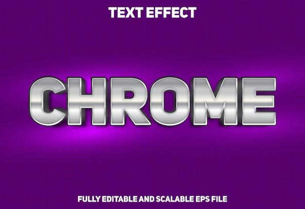 Effet de texte de style chrome