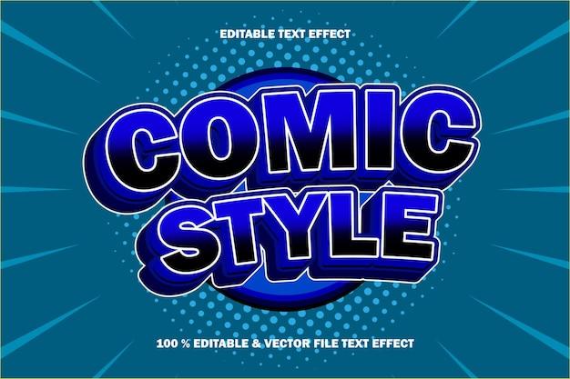 Effet de texte de style comique