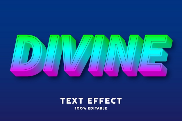 Effet de texte de style dégradé de bonbons 3d