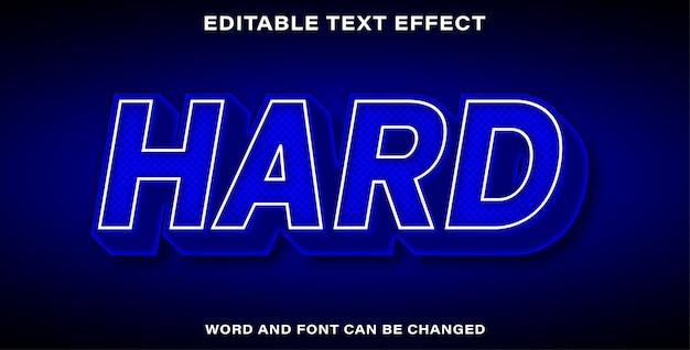 Effet de texte de style dur