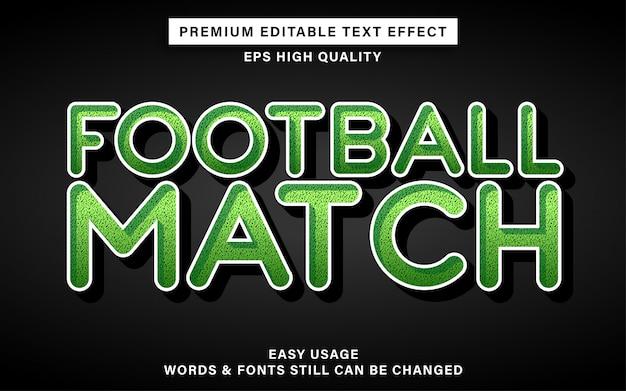 Effet de texte de style football