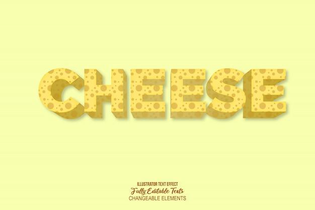 Effet de texte de style de fromage