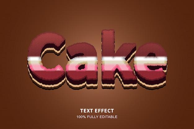 Effet de texte de style gâteau 3d, texte modifiable