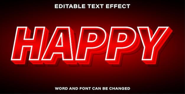Effet de texte de style heureux