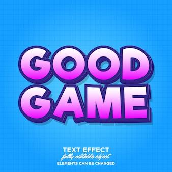 Effet de texte de style de jeu gras simple pour bannière
