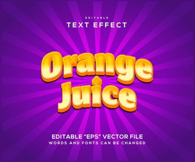 Effet de texte de style jus d'orange
