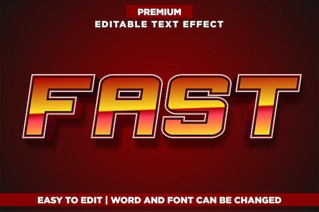 Effet de texte de style de logo de jeu rapide et modifiable