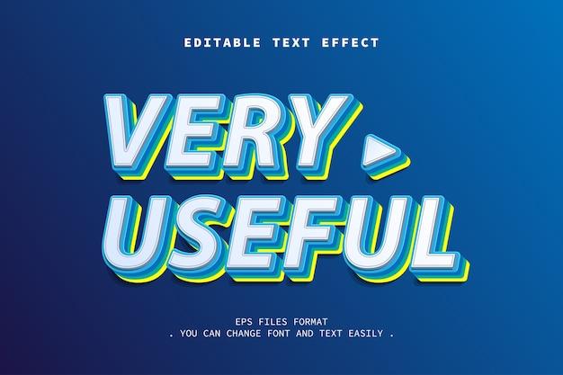 Effet de texte de style moderne 3d, texte modifiable