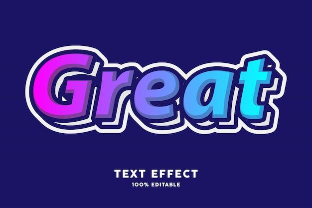 Effet de texte de style moderne coloré