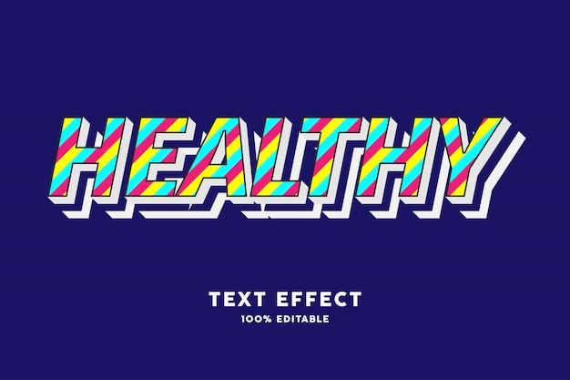 Effet de texte de style moderne de lignes colorées