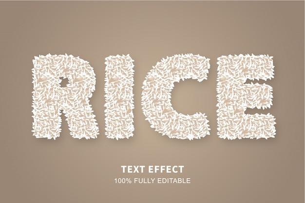 Effet de texte de style montée cuit, texte modifiable