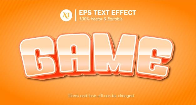 Effet de texte de style de police de jeu 3d