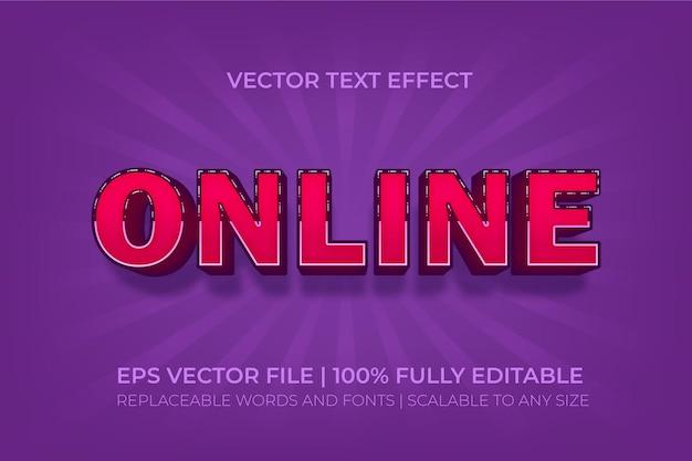 Effet de texte de style premium en ligne