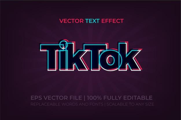 Effet de texte de style premium tiktok