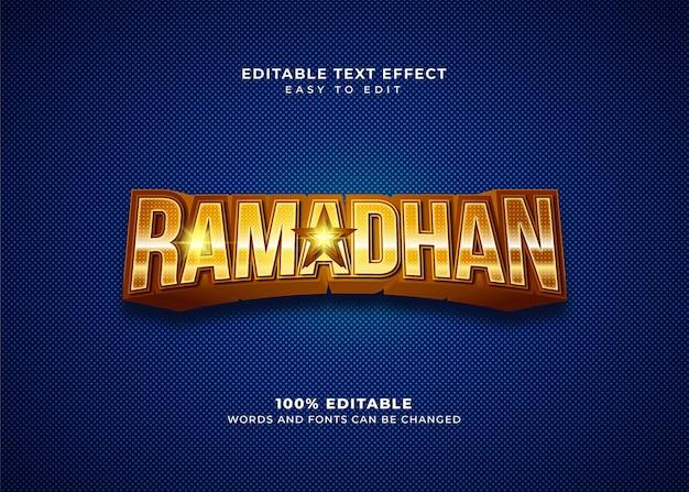 Effet de texte de style ramadhan